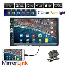 7 Inch Double 2 DIN Car Radio BT MP5 Player Touch USB Head Unit+Camera