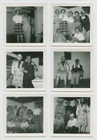 MASKED GHOULS HAUNT HALLOWEEN PARTY w PRESENCE - VINTAGE PHOTO SNAPSHOT LOT (6)