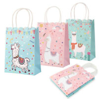 5x Alpaca Llama Party Bags Candy Treat Gift Bags Kids Birthday Party Supplies