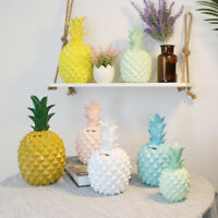 Pineapple Shaped Resin Piggy Bank Save Money Coin Cans Ornaments White S