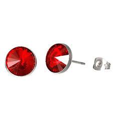 Stud Earrings with Rhinestones July Birthstone Stainless Steel Post