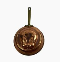 Vtg Tweety Bird Copper Pan Warner Bothers Hammered Brass Handle Wall Decor