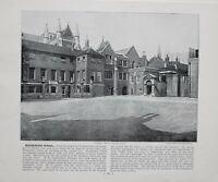 1896 London Aufdruck Mit Beschreibende Text Westminster Schule Blick Auf Gebäude