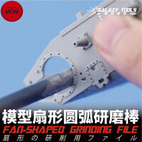 Fan-Shaped/Angled Stainless Steel Model Grinding File Stick Hobby Craft Tools