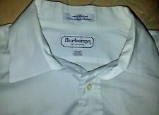 Burberry's of London Men's Dress Shirt 16-33 White French Cuff Cleaned & Pressed
