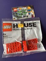 Home of the Brick Lego House 624210 6 Red Bricks  polybag with Authenticity Card