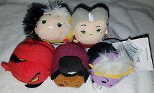 Disney Tsum Tsum Villain set of 5 Cruella Jafar Ursula & more  NWT FREE SHIPPING