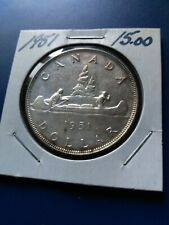 1951 Canadian Silver Dollar ($1), No Reserve!