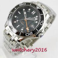41mm BLIGER Black Dial Datum Leuchtzeiger GMT Saphirglas Automatisch men's Watch