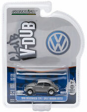 1:64 GreenLight *CLUB V-DUB 2* VOLKSWAGEN VW Silver 1940 Split Window Beetle NIP