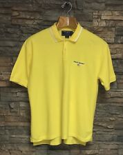 Ralph Lauren Polo Sport Shirt Rugby Flag Bright Yellow Waffle Thermal Large