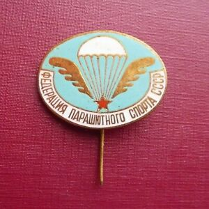 USSR Russian Soviet  Badge Parachuting Federation Paratrooper Airborne Sport VDV