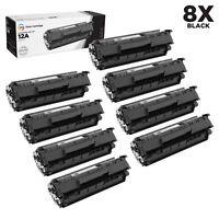 LD 8PK Comp Black Laser Toner Cartridge for HP 12A Q2612A LaserJet 1015 1018