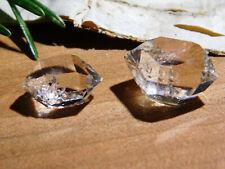 Pair of Herkimer Diamond Quartz Crystals Authentic Herkimer Diamonds, New York