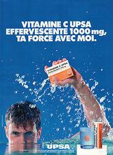 Publicité 1996  VITAMINE C UPSA EFFERVESCENTE médicaments