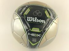 Wilson Hex Tournament Soccer Ball Size 5 Color Gold & Silver