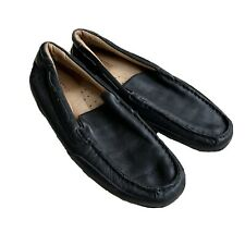 Sperry Top Sider Mens Black Leather Driving Loafers Mocs Size 10 M
