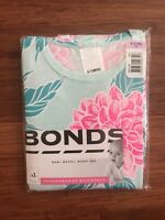 Bonds Baby Girl Blue Floral Short Sleeve Balletsuit Size 0 BNIP