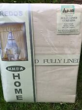 "Cream / Natural Fully Lined Curtains 66x54""   New."