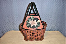 HAND PAINTED PANEL WICKER BASKET