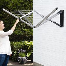 Wall Mounted Clothes Dryer Retractable Outdoor Washing Line Laundry Air Driers