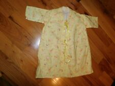 Flannel Baby After Bath Robe Gown Flannel w/ Bunnies Vintage