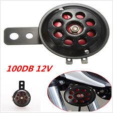 1X Universal Black & Red Automotive Car Truck Waterproof Electric Horn 12V 100db