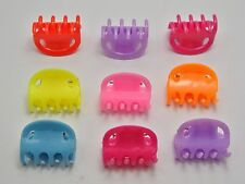 50 Mixed Color Plastic Hair Claw Clip Clamp DIY 20X13mm Hair Accessories