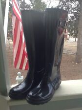 Itasca Womens Black Rubber Size 6 Tall Rain All Weather Boots Youth Size 4