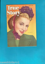 #T42.  TRUE STORY  MAGAZINE, JUNE  1945,  JOAN FONTAINE  COVER