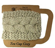Aran Traditions Oatmeal Tea Coffee Mug Cup Cable Knit Cosy