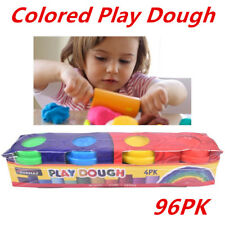 PACK OF 4 COLOURED MODELLING PLAY DOUGH TUBS ART CRAFT PARTY FAVOURS PRIZES