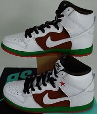 New Mens 10 NIKE Dunk High Premium SB Pecan White Leather Shoes $120 313171-201