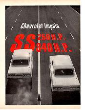 1963 IMPALA 409/340 HP & 327/250 HP ~ ORIGINAL 6-PAGE ROAD TEST / ARTICLE / AD