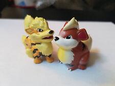 100% Authentic Takara Tomy Pokemon Growlithe & Arcanine PVC Figure Lot US Seller