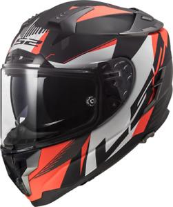 LS2 FF327 Challenger Squadron Motorcycle Helmet Matt Orange Motorbike Crash Lids