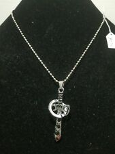 Necklace On Bead Chain Z13 Sword - Stainless Steel Charm Pendant