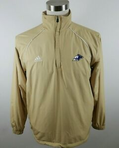 Akron Zips Mens Mesh Lined Polyester Clima Lite LS 1/4 Zip Coat Jacket Adidas S