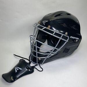 Easton Black Magic Hockey Style Catchers Helmet NOCSAE Small Fit 6 1/8 To 7 1/4