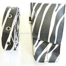 Black And White Hairdressing Scissors Pouch Holster Case Wallet -YNR