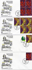 UNITED NATIONS 2001 DEFINITIVES ON 4 FIRST DAY COVERS SHSs