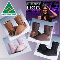 Genuine HAND-MADE Australia SHEARERS UGG Boots Wool Sheepskin Classic Short Boot