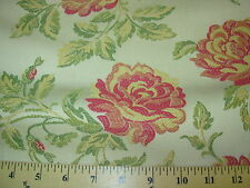 ~BTY~FLOWERS FLORAL~ELEGANT EMBROIDERED UPHOLSTERY FABRIC FOR LESS~