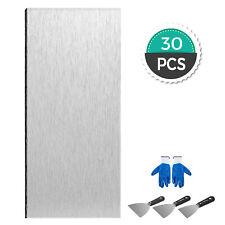 30 Pieces Peel and Stick Tile Self-adhesive Kitchen Backsplash Metal Wall Tiles