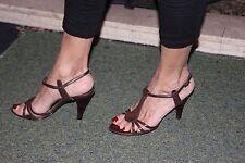 Zapatos de tacón alto próxima ocasión formal sexy de tacón alto 5 Caja Marrón Con Tiras Sandalia utilizado en