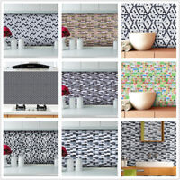 3D Brick Wall Sticker Self-Adhesive DIY Wallpaper Panels Decal Kitchen Bathroom