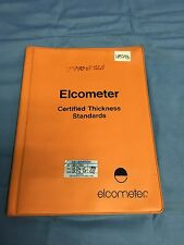 Set of 4 Elcometer 990 Series Coating Thickness Calibration Foil Standards