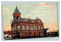 Vintage Early 1900's Postcard City Hall Corvallis Oregon POSTED