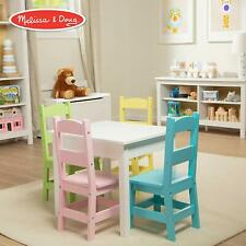 Melissa & Doug Kids Furniture, Wooden Table & 4 Chairs - Pastel