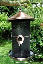 Vogelfutterspender Vogelfutterstation Futtersäule Futtersilo Metall Kupfer